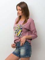 Niebieskie jeansowe szorty z przetarciami                                  zdj.                                  3