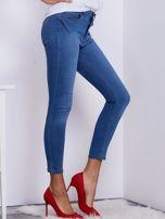 Niebieskie jeansy high waist                                  zdj.                                  5