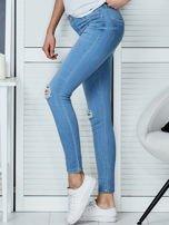 Niebieskie jeansy vintage o dopasowanym kroju                                  zdj.                                  3