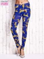 Niebieskie legginsy w gepardy                                  zdj.                                  1