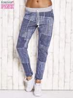 Niebieskie ocieplane spodnie dresowe                                   zdj.                                  1