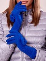 Czarne rękawiczki z kokardką i długim ściągaczem                                                                          zdj.                                                                         2