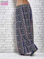 Niebieskie spódnica maxi w zteckie wzory                                  zdj.                                  4