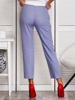 Niebieskie spodnie 7/8 w drobny deseń                                  zdj.                                  2