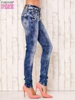 Niebieskie spodnie jeansowe marble denim z gwiazdką                                                                          zdj.                                                                         2