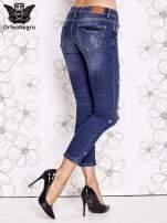 Niebieskie spodnie trash jeans z cieniowaniem                                  zdj.                                  2