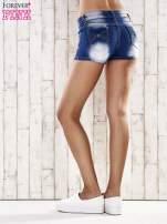 Niebieskie szorty jeansowe z kokardami na kieszeniach                                  zdj.                                  4