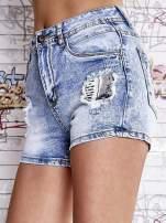 Niebieskie szorty jeansowe z wysokim stanem
