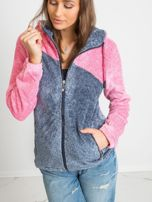 Niebiesko-różowa bluza Couture                                  zdj.                                  5