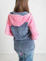 Niebiesko-różowa bluza Couture                                  zdj.                                  2