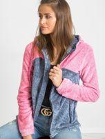 Niebiesko-różowa bluza Couture                                  zdj.                                  6