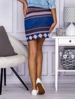 Niebiesko-różowa spódnica w azteckie wzory                                  zdj.                                  3