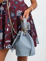 Niebiesko-szara torebka z łańcuszkiem                                  zdj.                                  5