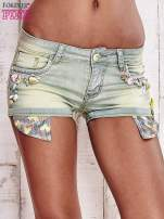 Niebieskozielone szorty jeansowe z muszelkami                                  zdj.                                  1