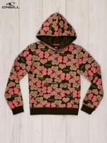 O'NEILL Khaki-koralowa bluza dla dziewczynki w serduszka                                  zdj.                                  4
