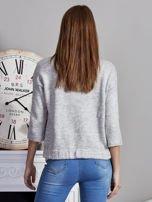 Otwarty sweter z kieszeniami szary                                  zdj.                                  2