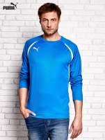 PUMA Niebieska bluzka męska z przeszyciami                                  zdj.                                  1