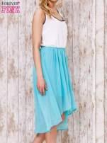Pastelowozielona tiulowa sukienka z krzyżowanymi plecami                                  zdj.                                  3