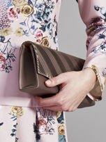 Plisowana elegancka kopertówka khaki                                  zdj.                                  8