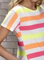 Pomarańczowa tunika w kolorowe pasy                                  zdj.                                  7