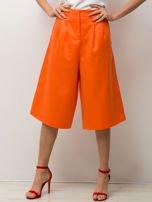 Pomarańczowe spódnicospodnie typu culottes                                                                          zdj.                                                                         1