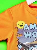 Pomarańczowy t-shirt chłopięcy GUMBALL                                                                          zdj.                                                                         3