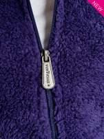 Purpurowa kamizelka z kapturem z uszkami i pomponami                                                                          zdj.                                                                         5