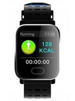 RONEBERG Smartwatch Smartband RA6 Pulsometr Ciśnieniomierz Oksymetr Powiadomienia Długi czas działania niebiesko-czarny                                  zdj.                                  7