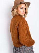 RUE PARIS Brązowy sweter Luca                                  zdj.                                  2