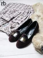Roccobarocco brązowe baleriny shammy-leather z weluru                                  zdj.                                  2
