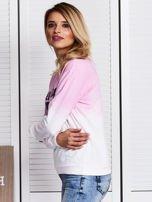 Różowa bluza ombre z napisem                                  zdj.                                  5