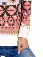 Różowa bluza w azteckie wzory                                  zdj.                                  5