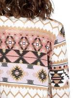 Różowa bluza w azteckie wzory z koronką                                                                          zdj.                                                                         8