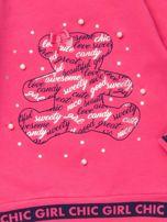 Różowa bluzka dla dziewczynki z perełkami                                  zdj.                                  2