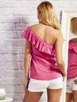 Różowa bluzka z falbaną                                  zdj.                                  3
