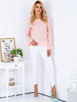 Szyfonowa bluzka z falbankami i aplikacją różowa                                  zdj.                                  4