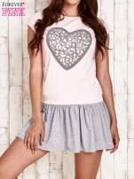 Różowa dresowa sukienka tenisowa z sercem                                  zdj.                                  1