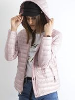 Różowa dwustronna kurtka z kapturem                                  zdj.                                  5