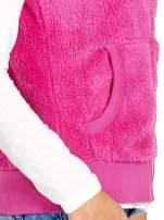 Różowa kamizelka z polaru z kapturem z uszkami                                  zdj.                                  5