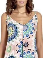 Rożowa letnia sukienka w kwiaty                                  zdj.                                  5