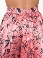 Różowa rozkloszowana spódnica skater w kwiaty                                  zdj.                                  6