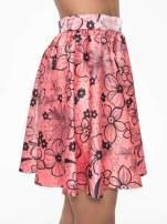 Różowa rozkloszowana spódnica skater w kwiaty                                  zdj.                                  8
