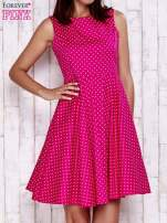 Różowa rozkloszowana sukienka w groszki                                                                          zdj.                                                                         1