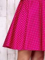 Różowa rozkloszowana sukienka w groszki                                  zdj.                                  5