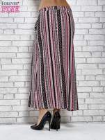 Różowa spódnica maxi w azteckie wzory                                  zdj.                                  4