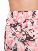 Różowa spódnica ołówkowa z nadrukiem diamond print                                                                          zdj.                                                                         8