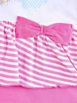 Różowa sukienka dla dziewczynki z kokardką i falbankami MY LITTLE PONY