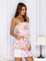 Różowa sukienka w grochy                                   zdj.                                  3