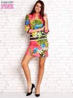 Różowa sukienka w kwiaty                                                                          zdj.                                                                         2