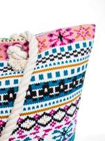 Różowa torba plażowa w azteckie wzory                                  zdj.                                  8